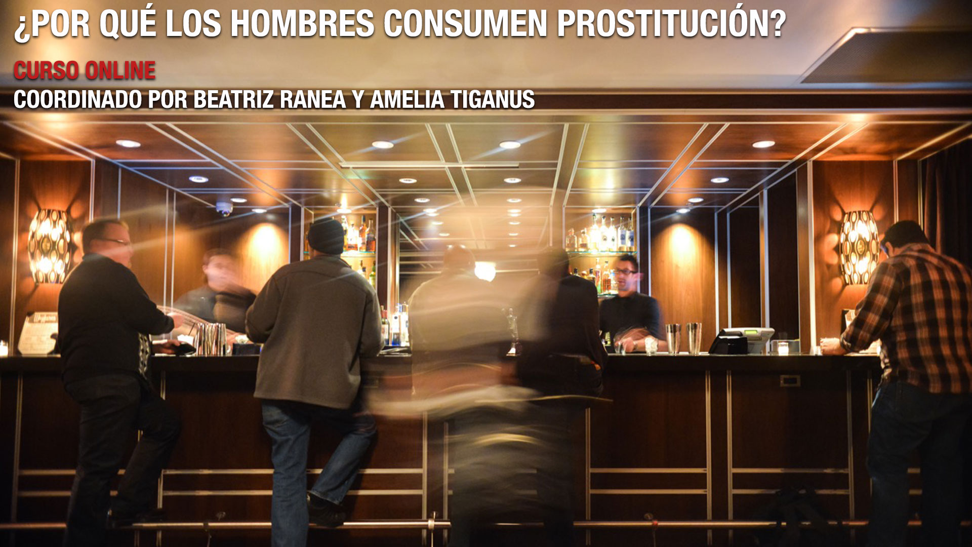 curso online ¿Por qué los hombres consumen prostitución? Coordinado por Amelia Tiganus