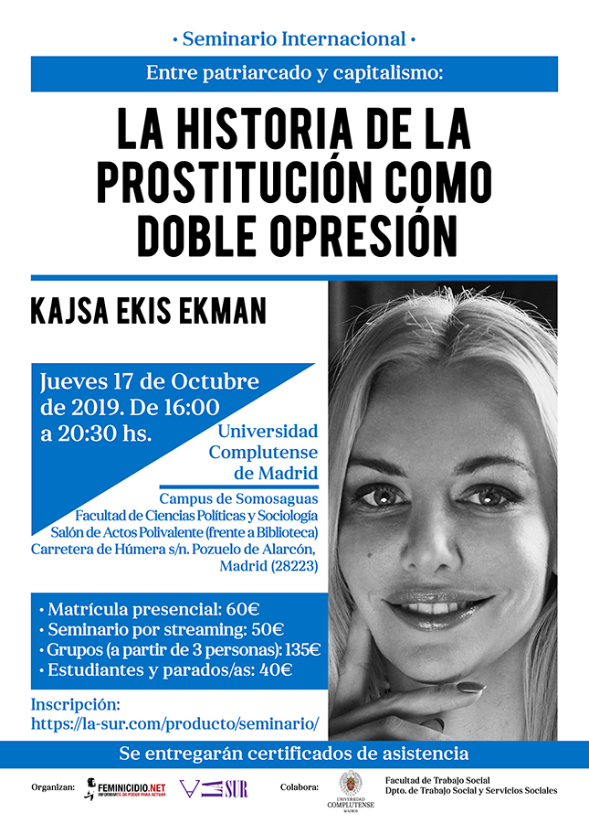 Seminario Internacional impartido por Kajsa Ekis Ekman