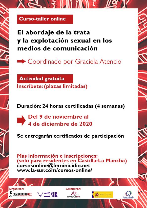 Curso online gratis sobre trata y explotación sexual en Castilla La Mancha