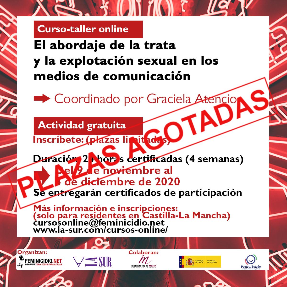 Curso Online Gratuito: El Abordaje De La Trata Y La Explotación Sexual En Los Medios De Comunicación. Para Residentes En Castilla-La Mancha