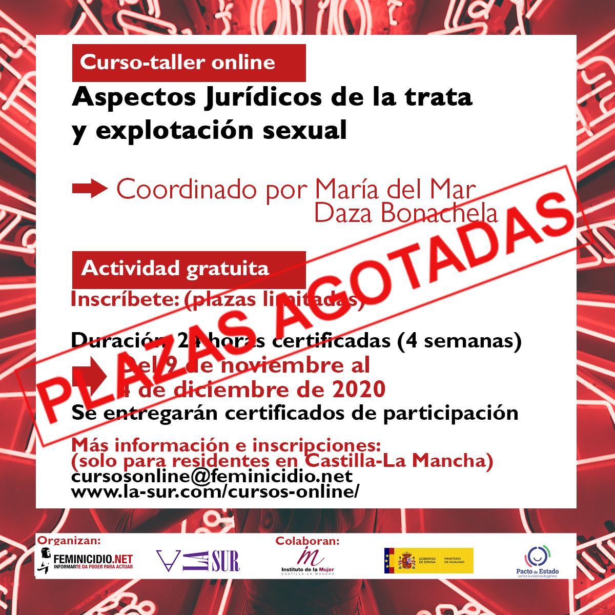 Curso Online Gratuito: Aspectos Jurídicos De La Trata Y Explotación Sexual. Para Residentes En Castilla-La Mancha